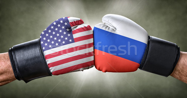Boxe match USA Russie affaires sport Photo stock © Zerbor