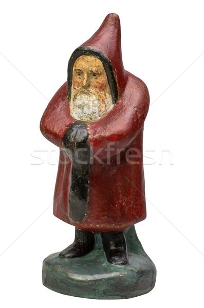 Antik mikulás szobrocska férfi művészet fekete Stock fotó © Zerbor