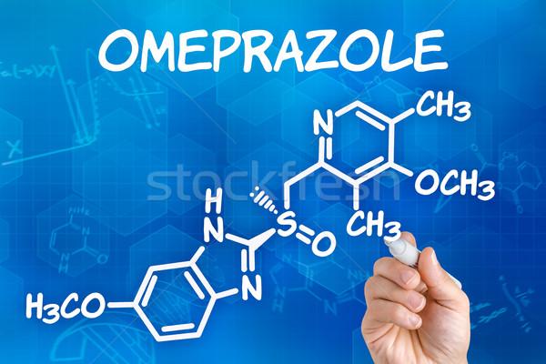 Mano pluma dibujo químicos fórmula fondo Foto stock © Zerbor