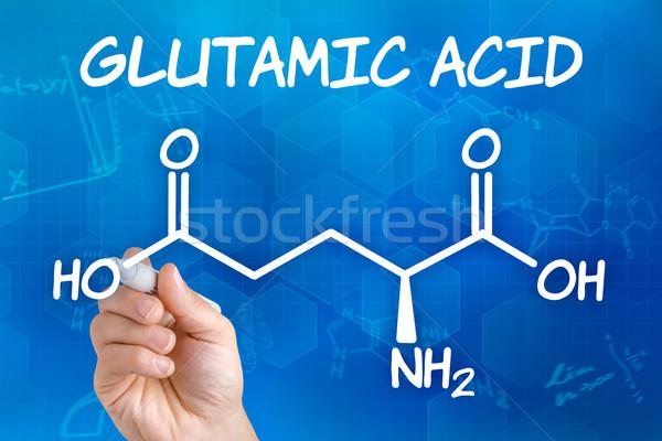Mano pluma dibujo químicos fórmula ácido Foto stock © Zerbor