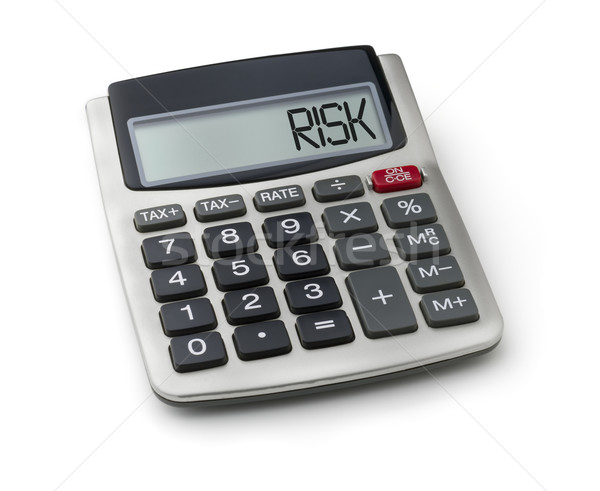 Calculator with the word risk on the display Stock photo © Zerbor