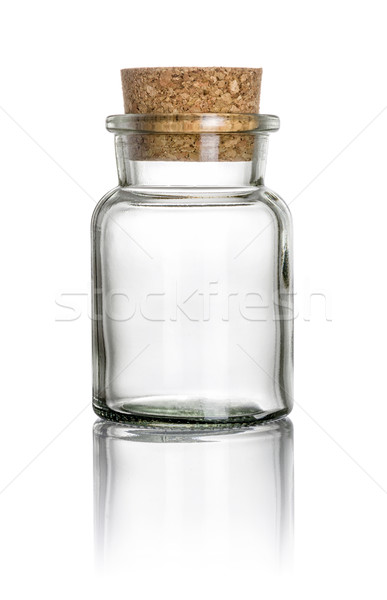 A glass with a cork on a white background Stock photo © Zerbor