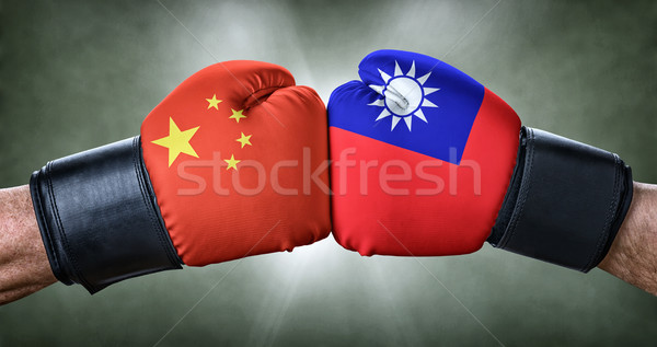 A boxing match between China and Taiwan Stock photo © Zerbor