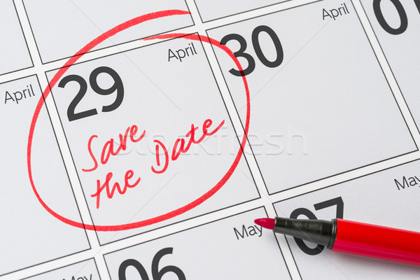 Save the Date written on a calendar - April 29 Stock photo © Zerbor