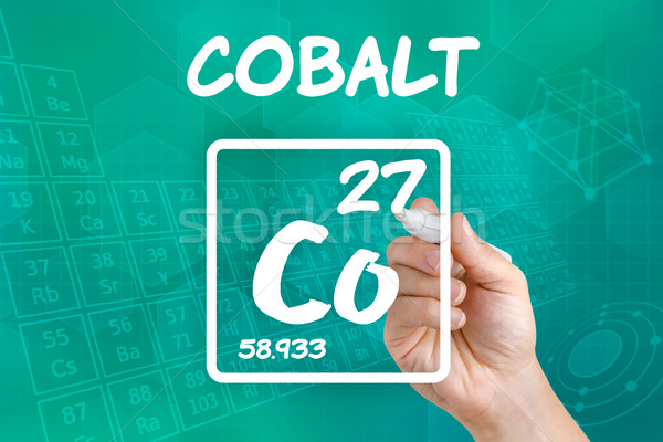 Symbol for the chemical element cobalt Stock photo © Zerbor