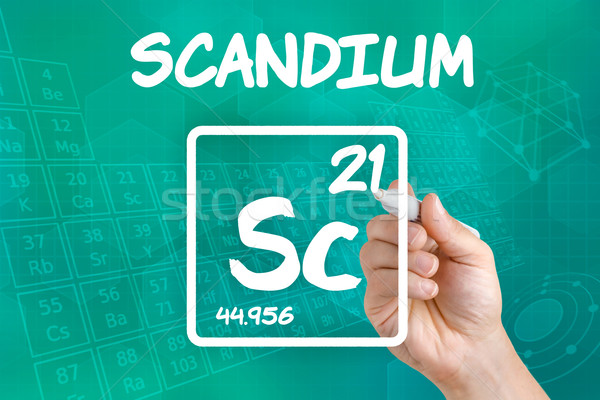 Symbol for the chemical element scandium Stock photo © Zerbor