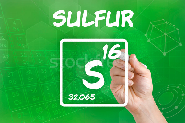 Symbol for the chemical element sulfur Stock photo © Zerbor