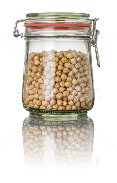 Chickpeas in a jar Stock photo © Zerbor