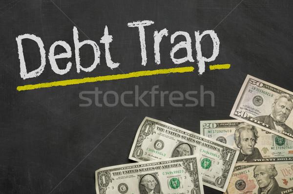 文字 黒板 お金 借金 トラップ ビジネス ストックフォト © Zerbor