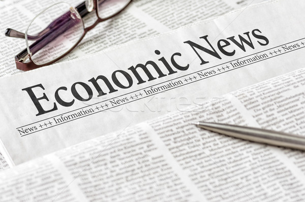 A newspaper with the headline Economic News Stock photo © Zerbor