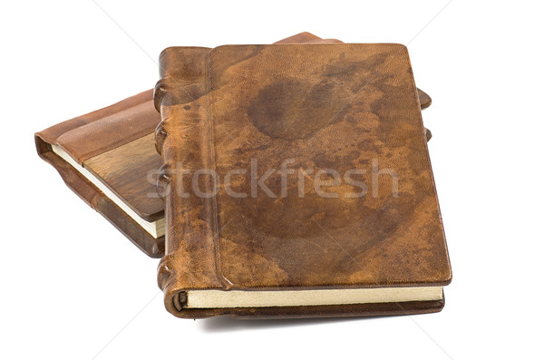 precious books with a noble leather and wooden cover Stock photo © Zerbor