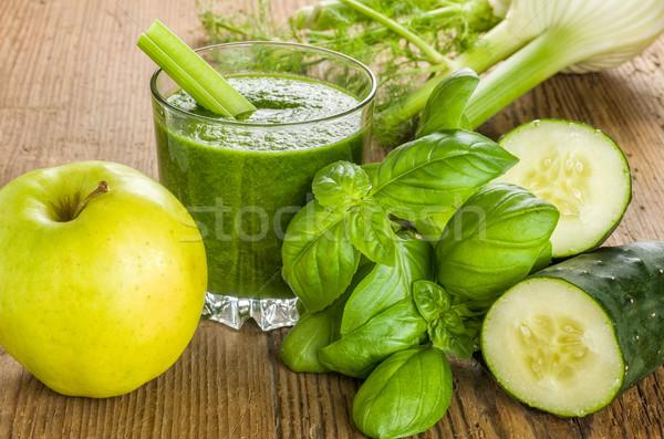 グリーンスムージー 新鮮な 材料 ガラス 健康 緑 ストックフォト © Zerbor