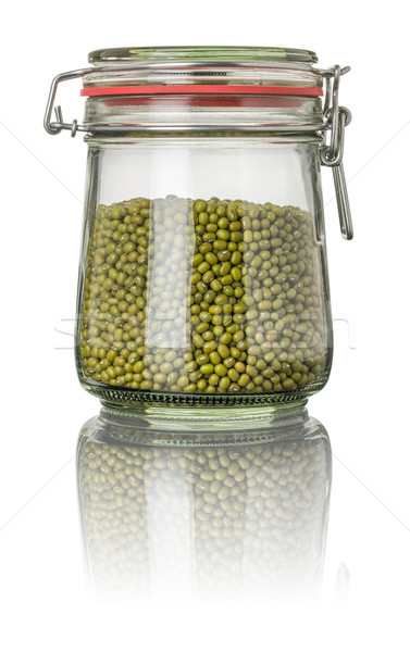 Mung beans in a jar Stock photo © Zerbor