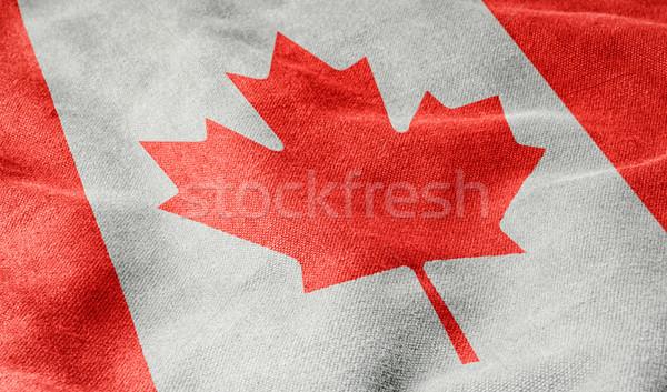 Bandeira Canadá fundo assinar tecido liberdade Foto stock © Zerbor
