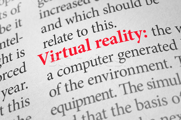 Definition of the word Virtual reality in a dictionary Stock photo © Zerbor