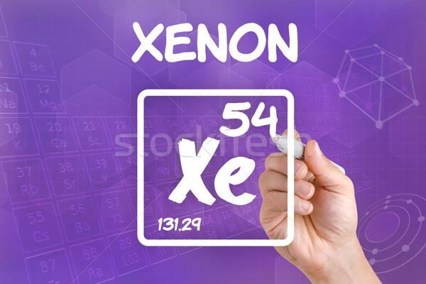 Simge kimyasal ksenon el teknoloji Stok fotoğraf © Zerbor