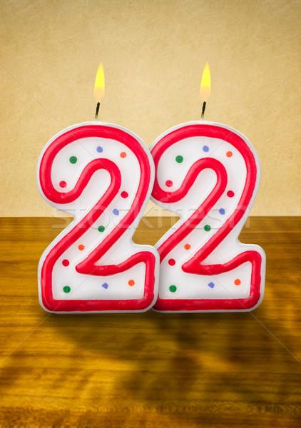 Burning birthday candles number 22 Stock photo © Zerbor