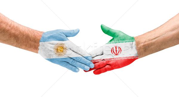 Handshake Argentina and Iran Stock photo © Zerbor