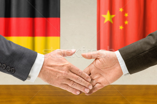 Germania Cina stringere la mano business mani successo Foto d'archivio © Zerbor