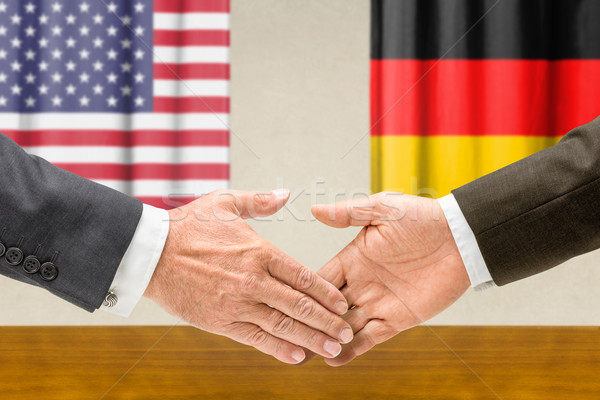 USA Allemagne serrer la main affaires mains succès Photo stock © Zerbor