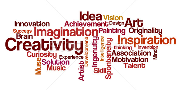 Word cloud creatività design arte pittura visione Foto d'archivio © Zerbor