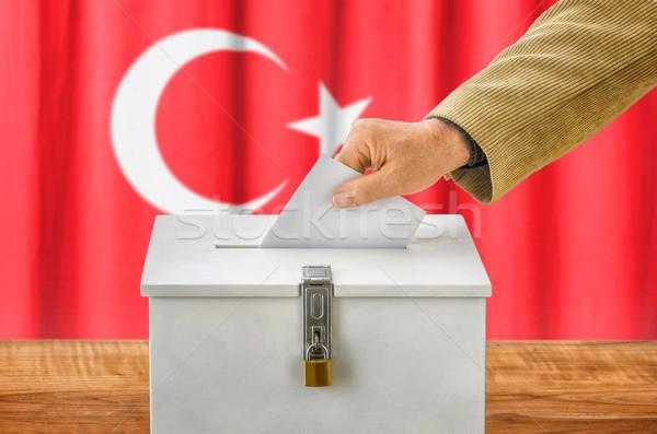 Homme scrutin boîte Turquie fête Photo stock © Zerbor
