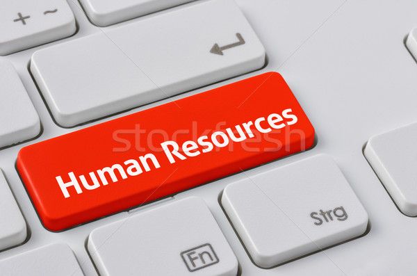 A keyboard with a red button - Human Resources Stock photo © Zerbor