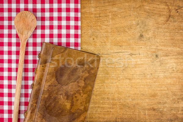 Libro tovaglia texture Foto d'archivio © Zerbor