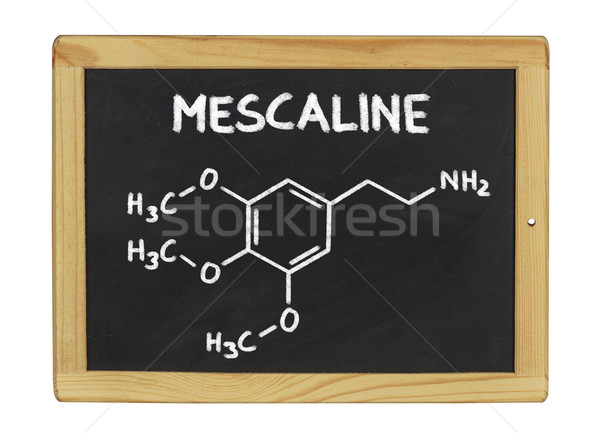 chemical formula of mescaline on a blackboard Stock photo © Zerbor