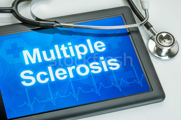 Tablet with the diagnosis multiple sclerosis on the display Stock photo © Zerbor