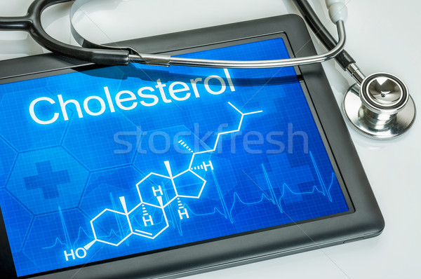 Tablet with the chemical formula of cholesterol Stock photo © Zerbor