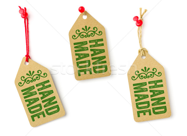 Collection of tags with the text Handmade Stock photo © Zerbor