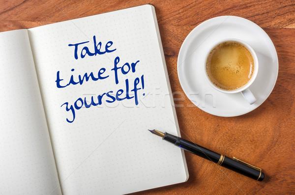 Elvesz idő magad üzlet papír toll Stock fotó © Zerbor