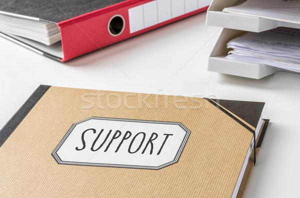ストックフォト: フォルダ · ラベル · サポート · お金 · 作業 · デスク