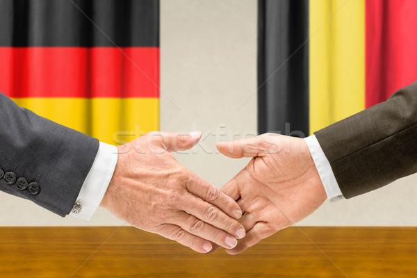 Alemanha Bélgica apertar a mão mãos mão reunião Foto stock © Zerbor