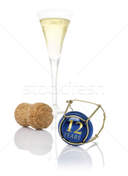 Champanhe boné 12 anos aniversário Foto stock © Zerbor