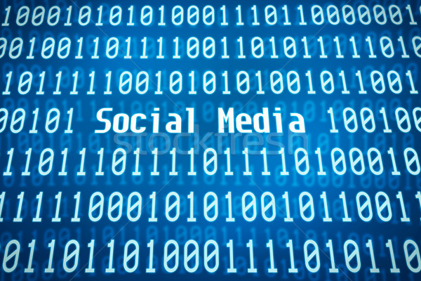 Binary code with the word Social Media in the center Stock photo © Zerbor