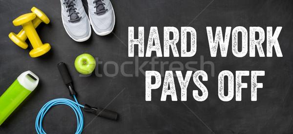 Fitness equipamento escuro trabalho duro trabalhar Foto stock © Zerbor