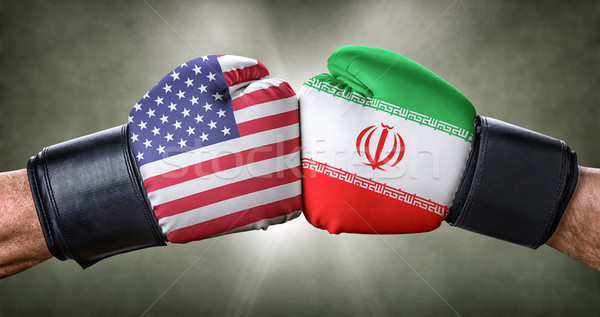 A boxing match between the USA and Iran Stock photo © Zerbor
