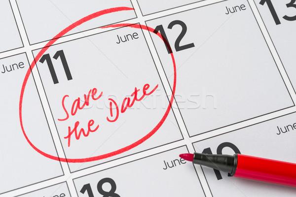 Save the Date written on a calendar - June 11 Stock photo © Zerbor