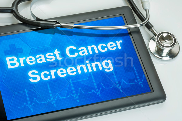 Tablet with the text Breast Cancer Screening on the display Stock photo © Zerbor