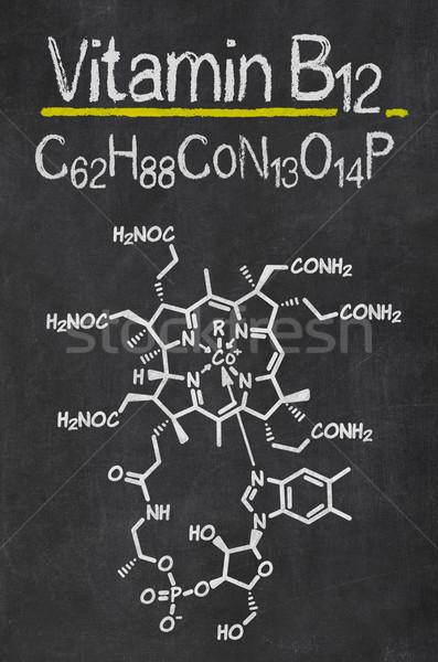 Tahta kimyasal formül vitamin teknoloji tıp Stok fotoğraf © Zerbor