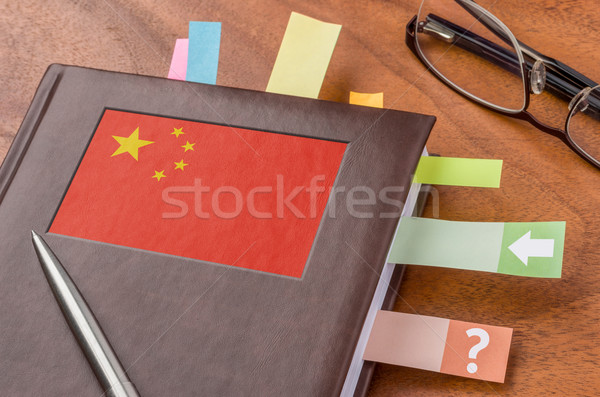Notebook with the flag of China Stock photo © Zerbor