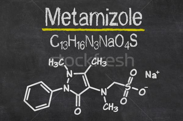 Pizarra químicos fórmula resumen escrito negro Foto stock © Zerbor