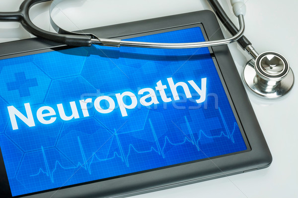 Tablet with the diagnosis Neuropathy on the display Stock photo © Zerbor