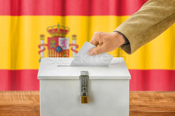 Adam oylama kutu İspanya parti Stok fotoğraf © Zerbor