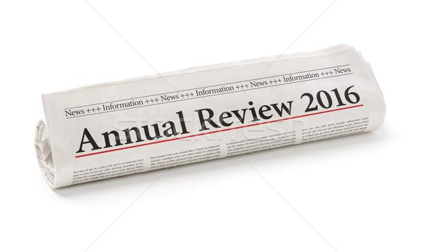 Tekert újság főcím éves 2016 papír Stock fotó © Zerbor
