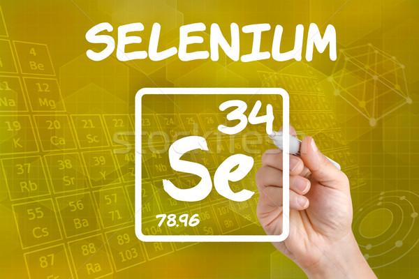 Symbol chemicznych strony technologii laboratorium Zdjęcia stock © Zerbor