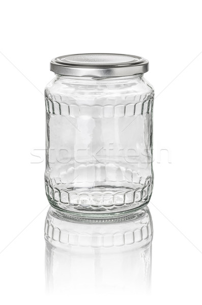 isolated glass jar with facets Stock photo © Zerbor
