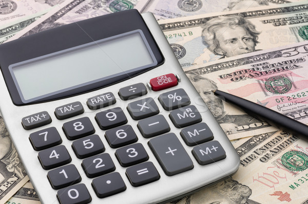 Calculator with money Stock photo © Zerbor